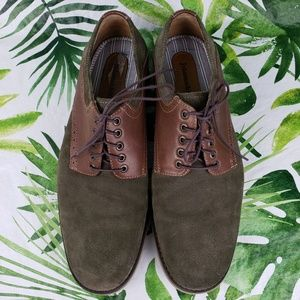 Johnston & Murphy leather and suede oxfords 10M
